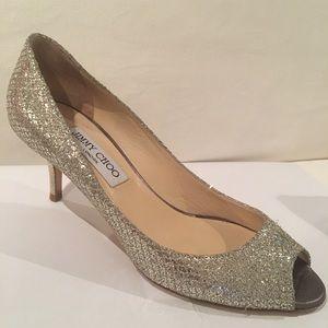AUTH JIMMY CHOO glittery heels! Gorgeous! 🤩